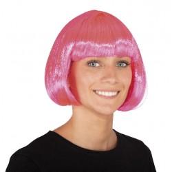 Perruque cabaret rose