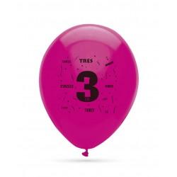 10 ballons chiffre 3...