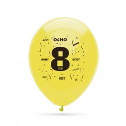 8 ballons chiffre 8...