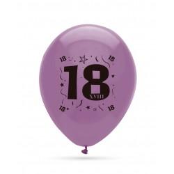 8 ballons chiffre 18...
