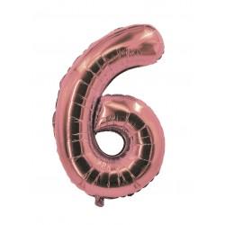 Ballon alu chiffre 6 rose...