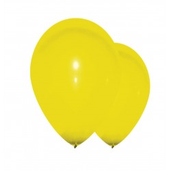 100 ballons jaune 30 cm