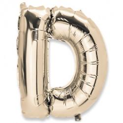 Ballon lettre D 36 cm or