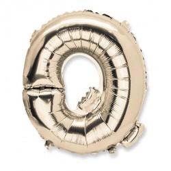 Ballon lettre Q 36 cm or