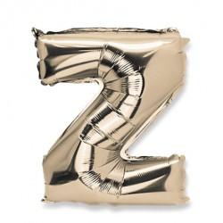 Ballon lettre Z 36 cm or