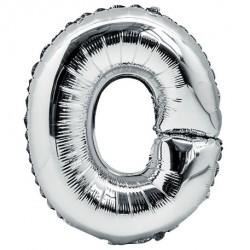 Ballon lettre O 36 cm argent