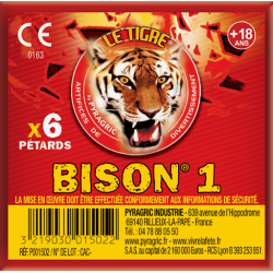 Paquet de 6 pétards bison 1...