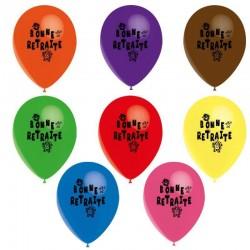 10 ballons retraite couleur...