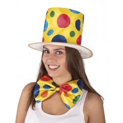 Chapeau de clown jaune à pois