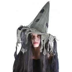 Chapeau sorcière noir avec...